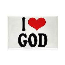 I Love God Rectangle Magnet