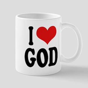 I Love God Mug