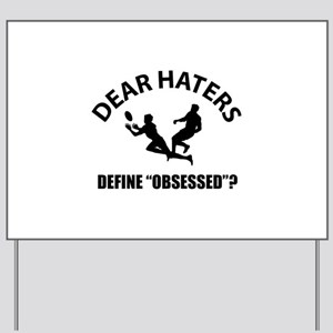 Rugby Define Obsessed? Yard Sign