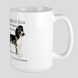 Letter From Your Beagle To You Large Mug Mugs
