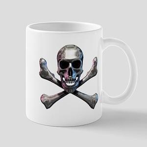Chrome Skull and CrossBones Mug