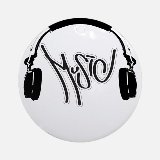 Headphones Ornament (Round)