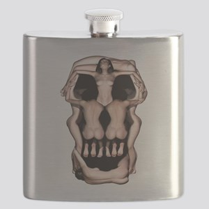 Women Skull Illusion Flask