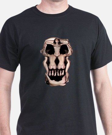 Women Skull Illusion T-Shirt