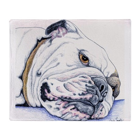 english bulldog blanket english bulldog throw blanket by carlaspetportraits 9127