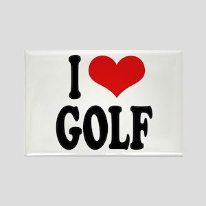 I Love Golf Rectangle Magnet