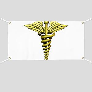 Golden Medical Symbol Banner