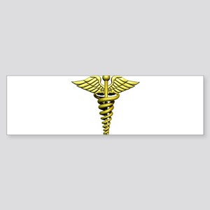Golden Medical Symbol Sticker (Bumper)