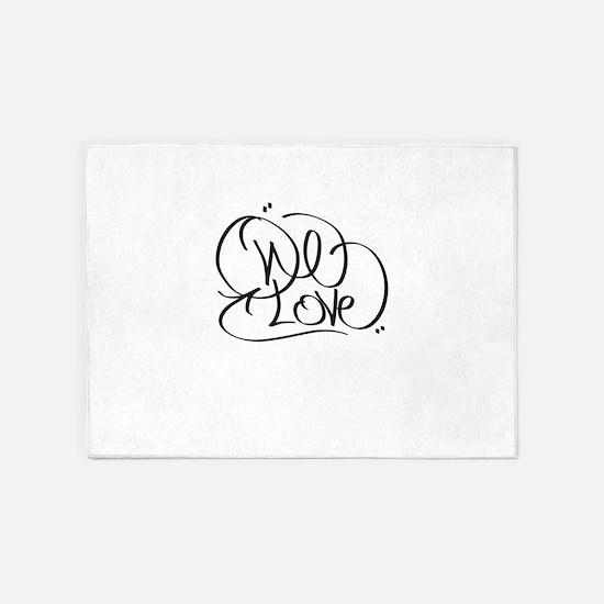 One Love 5'x7'Area Rug