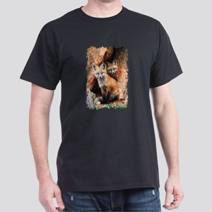 Fox cubs in Hollow Forest Tree T-Shirt