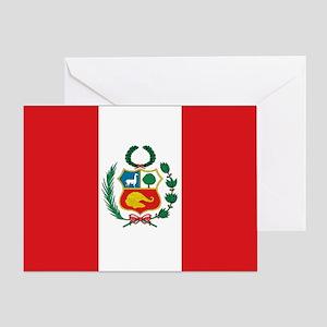 Peru Flag Card Greeting Cards