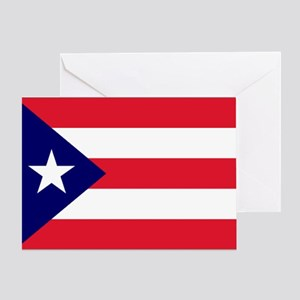Puerto Rico Flag Card Greeting Cards