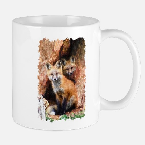 Fox cubs in Hollow Forest Tree Mugs