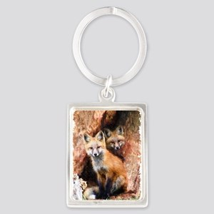 Fox cubs in Hollow Forest Tree Keychains