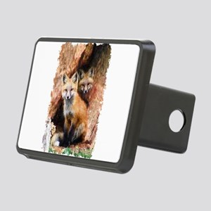 Fox cubs in Hollow Forest Rectangular Hitch Cover