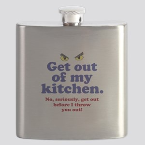 Get Out of my Kitchen Flask