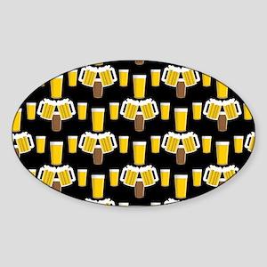Beer Smile Sticker (Oval)