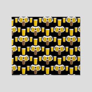 Beer Smile Throw Blanket