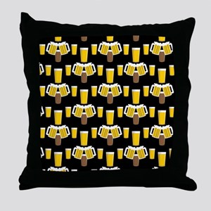 Beer Smile Throw Pillow