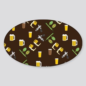 Beer Collage Sticker (Oval)