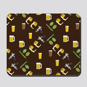 Beer Collage Mousepad