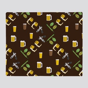 Beer Collage Throw Blanket