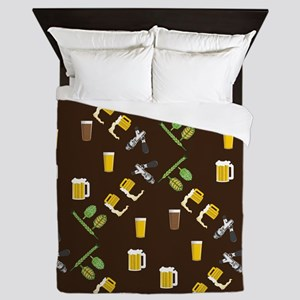 Beer Collage Queen Duvet
