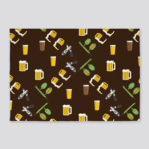 Beer Collage 5'x7'Area Rug