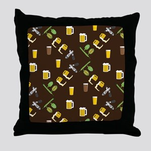 Beer Collage Throw Pillow