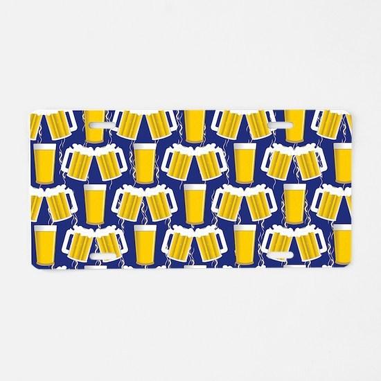Beer Cheers Aluminum License Plate
