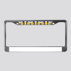 Beer Cheers License Plate Frame
