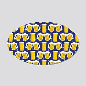 Beer Cheers 20x12 Oval Wall Decal