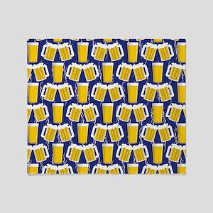 Beer Cheers Throw Blanket