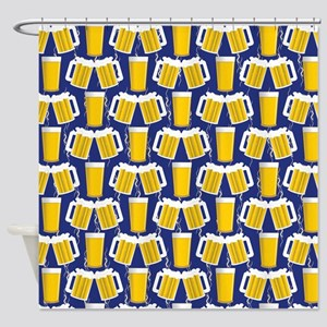 Beer Cheers Shower Curtain