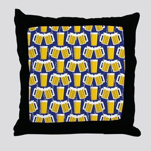 Beer Cheers Throw Pillow