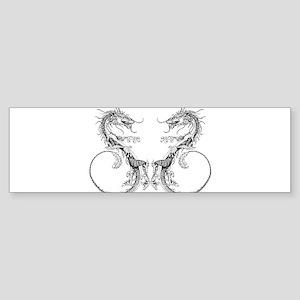 Dueling Dragons Bumper Sticker