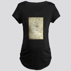 Vintage Map of Sparta Greece (18 Maternity T-Shirt