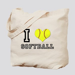 I Heart (Love) Softball Tote Bag