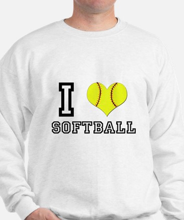 I Heart (Love) Softball Sweatshirt