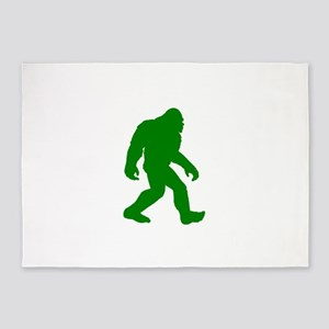 Bigfoot Silhouette 5'x7'Area Rug