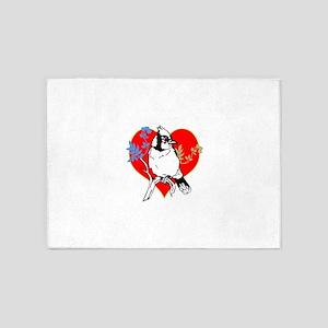 OYOOS Bird Heart Tear design 5'x7'Area Rug