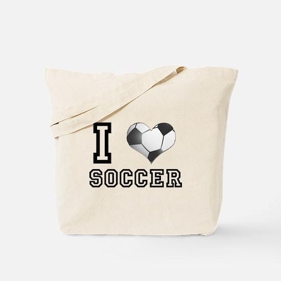 I Heart (Love) Soccer Tote Bag