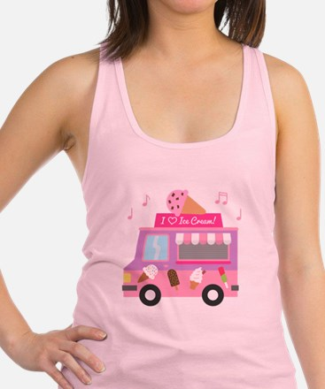 I love Ice Cream Truck Racerback Tank Top