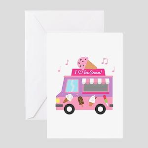 I love Ice Cream Truck Greeting Cards