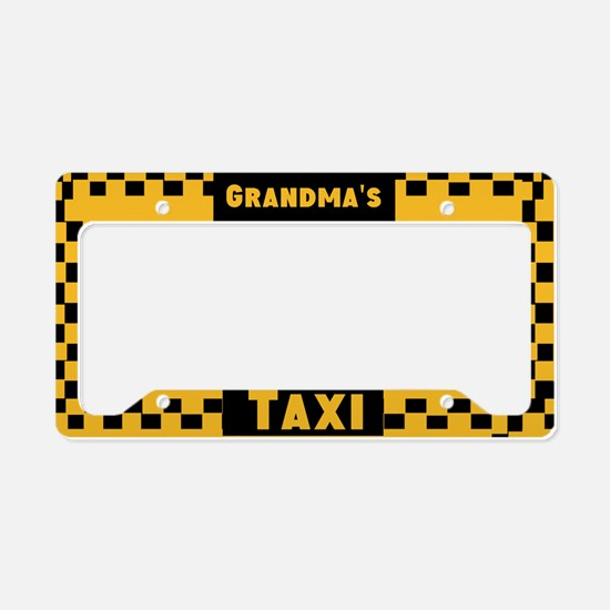 Grandma Taxi License Plate Holder