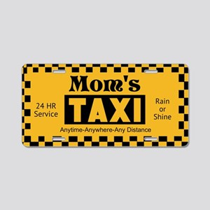 Mom's Taxi Aluminum License Plate