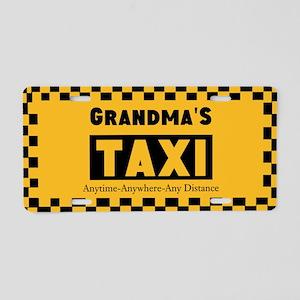 Grandma's Taxi Aluminum License Plate