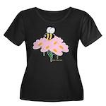 Twin A Bee Women's Plus Size Scoop Neck Dark T-Shi