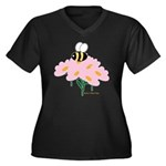 Twin A Bee Women's Plus Size V-Neck Dark T-Shirt