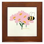 Twin B Bee Framed Tile